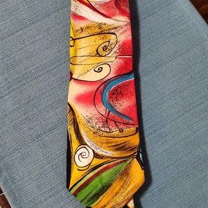 Other - Vertigo red yellow tie 100% cotton
